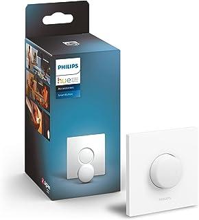 Philips Hue Smart Inteligentny przycisk sterujący, wygodne sterowanie oświetleniem, możliwość przyciemniania, bez montażu