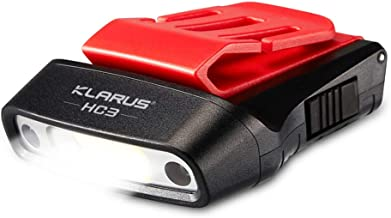 klarus HC3 LED Clip On Cap Leicht, Weiss und Rotlicht mit Sensorsteuerung, 5 Modi dimmbar, für die Jagd, Camping, Fischen
