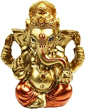 "BangBangDa 3.5"" H Hindu God Ganapathi Fengshui Ganesh Figurine Good Luck Buddha Indian Lord Ganesha Statues Diwali Gifts P..."