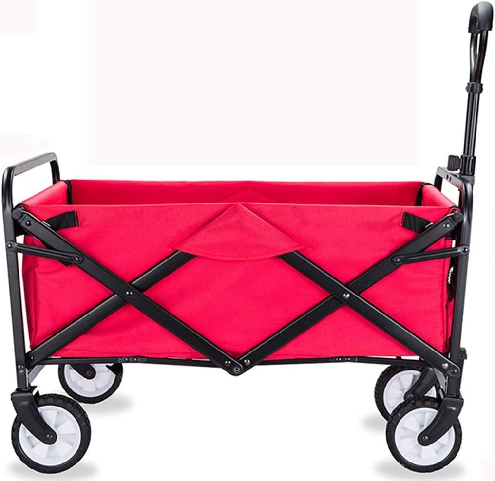 ECHOV Trolley Bags Shopping Cart,Outdoor Grocery Shopping Four-Wheeler,Foldable Trolley,Multi-Function Trolley,Portable Carrier Color : Green, Size : 73mc