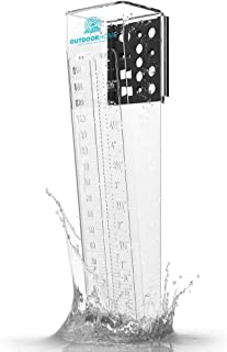 "OutdoorHome 6"" RAIN Gauge. Deluxe Heavy Duty Mountable Outdoor Rain Gauge for Yard, Garden & Farm. A Reliable & Accurate Rainfall Gauge"