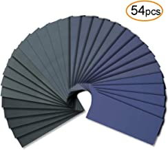 54pcs Wet Dry Sandpaper Assorted 3000/2500/2000/1500/1200/1000 Grit for Automotive Sanding by FRIMOONY