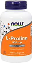 L-Proline 500 mg Amino Acids Collagen Production Free-Form 120 Veg Capsules