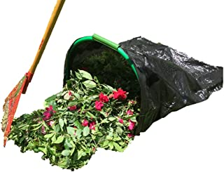LEAF GULP Lawn and Leaf Bag Holder Turns a Plastic or Bio Lawn & Leaf Bag Into A Hands-Free Dustpan Making Yard Clean-Up A Snap! Made in The USA