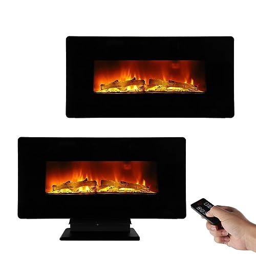 Terrific Electric Fireplace With Heater Thermostat Control Amazon Com Download Free Architecture Designs Griteanizatbritishbridgeorg