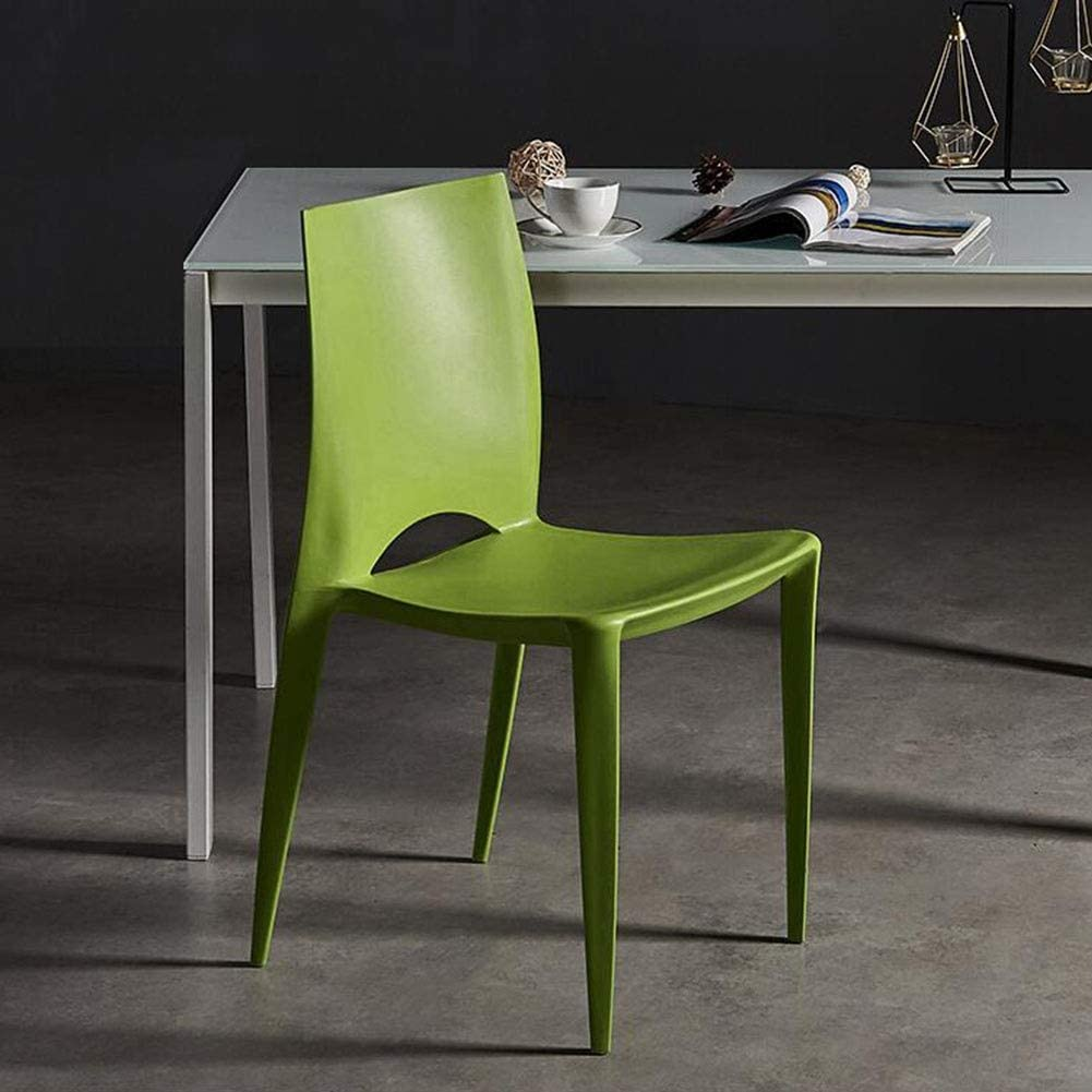 DALL Chaise De Salle À Manger Lot De 2 Empilable Chaise De Table Dossier Moderne Plastique Chaise De Café De Loisirs Chaise De Réception (Color : Blue) Green