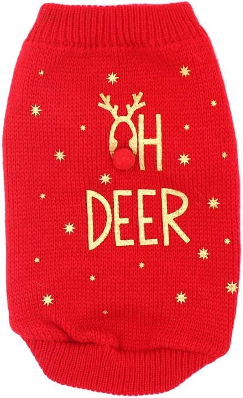 POPETPOP Albuquerque Mall Dog Christmas Sweater Fashion Costume Winter Wa gift Cat