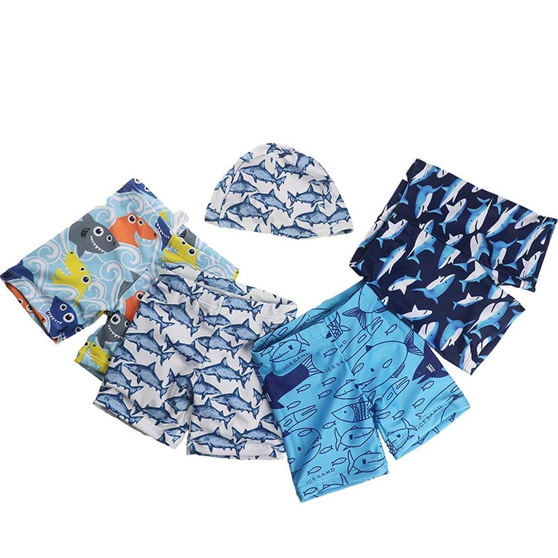 男の子の水着 子供用スイミングトランク子供用サンスクリーンクイックドライビーチパンツスイムトランク 水着水着 (色 : Line Fish, サイズ : XL)