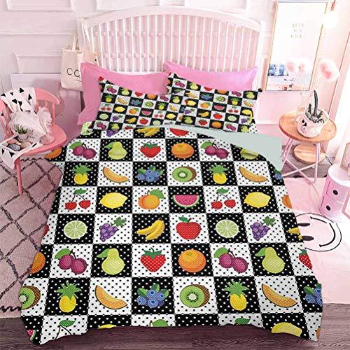 Hiiiman - Bettwäsche-Set und 2 Bettbezügen