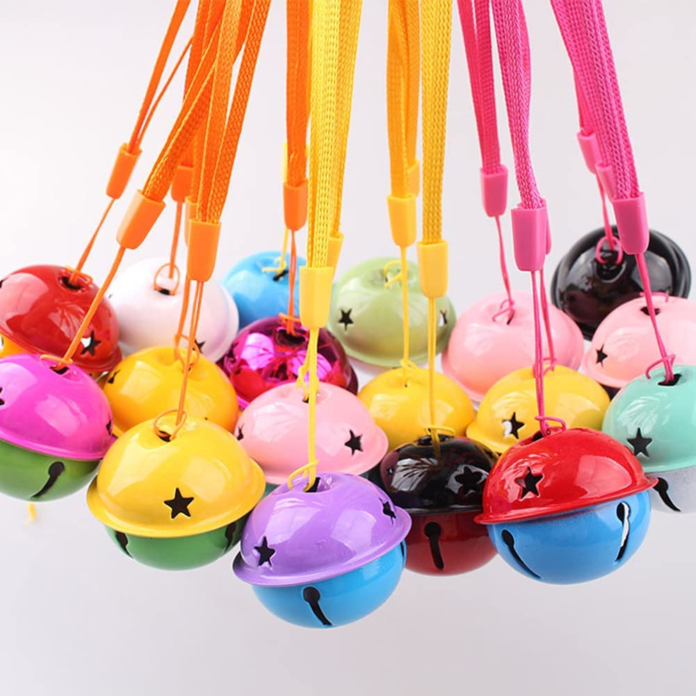 SUKPSY 20 Pcs Safety and trust 1.57 Inch Colorful Jingle with Free Shipping Cheap Bargain Gift Cords Lanyard Bells