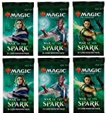 6 (Six) Booster Packs of Magic: The Gathering: War of The Spark (6 Pack - WAR Booster Draft Lot)