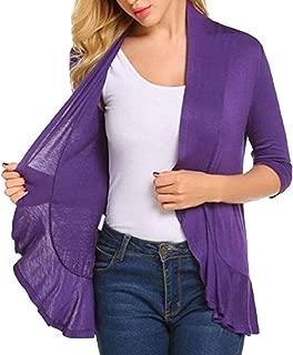 Women Fashion Open Cardigan Casual Loose Irregular Hem Sweater Long Sleeves Cardigan Overcoats