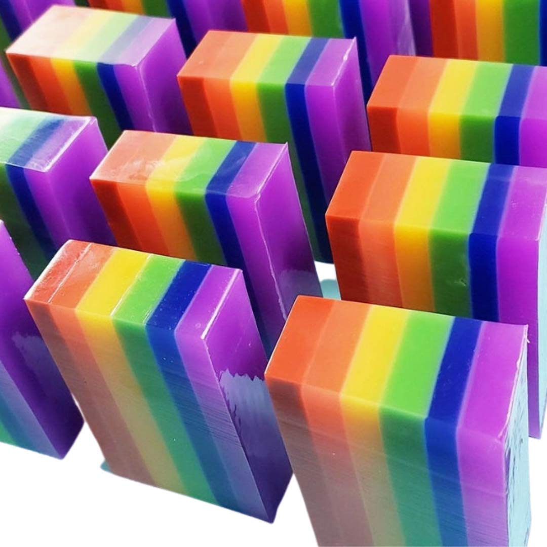 Colorful Rainbow Handmade Soap. Pride Gifts Women for Max OFFer 54% OFF Men. and S
