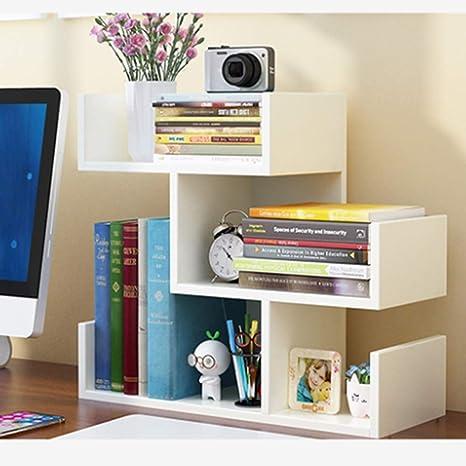 Bookshelf - Table Small Bookshelf Estantes de Escritorio para ...