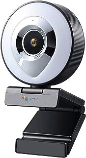 غطاء كاميرا الويب Auto Focus Lighting Beautification Webcam HD 1080P Live Video Webcam Microphone USB 3-level Touch Adjust...