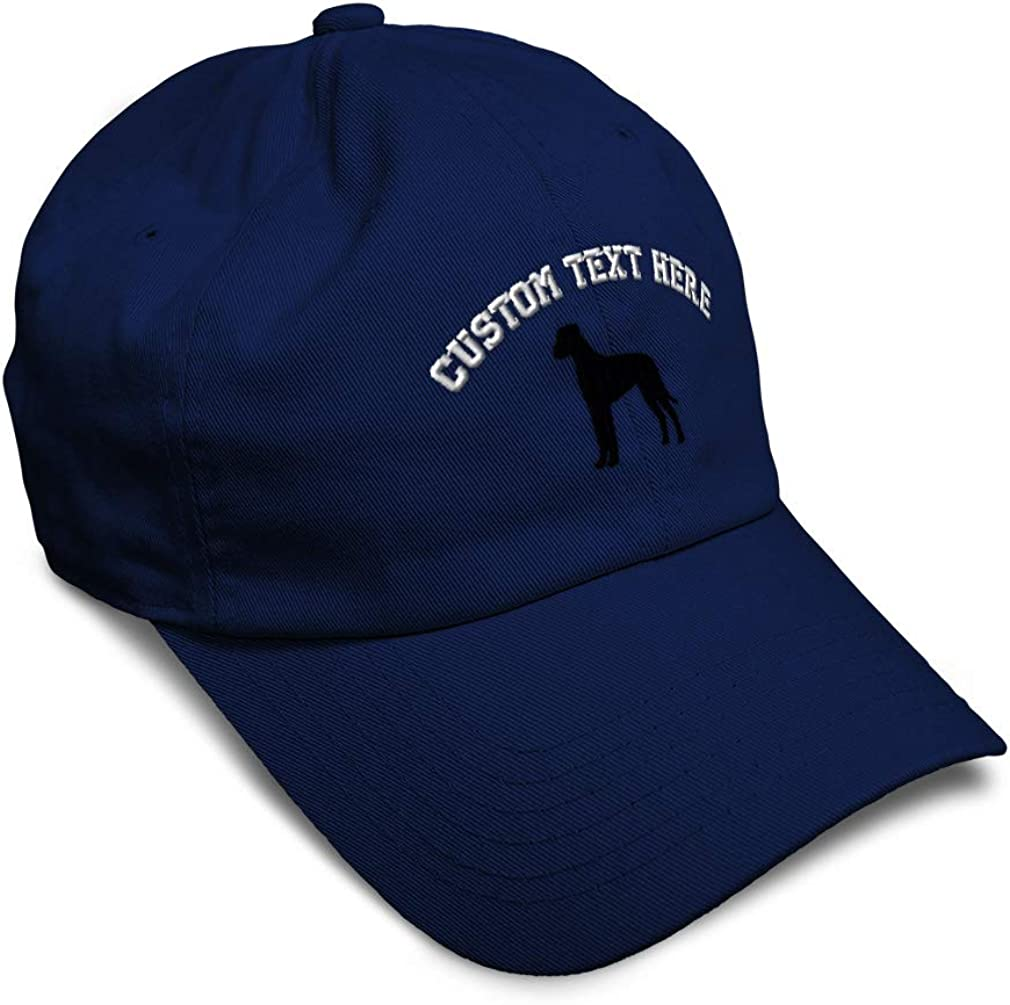 Soft Baseball Cap Great Dane Silhouette Buck Pets Be super welcome Embroidery High order Dog