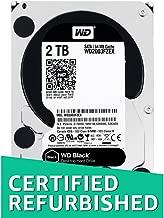 WD Black 1TB Performance Desktop Hard Disk Drive - 7200 RPM SATA 6 Gb/s 64MB Cache 3.5 Inch - WD1003FZEX (Renewed)