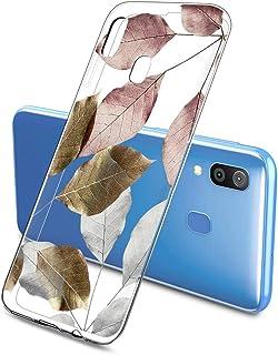 Suhctup Compatible con Samsung Galaxy A8 2018 Funda Flor de TPU Transparente Diseño de Flores Patrón Cárcasa Ultra Fina Su...