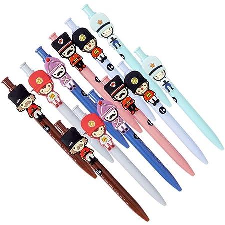SRrabbit イギリス衛兵風 キャラクターボールペン かわいい 癒しグッズ プレゼント ノベルティーグッズ (12本セット)