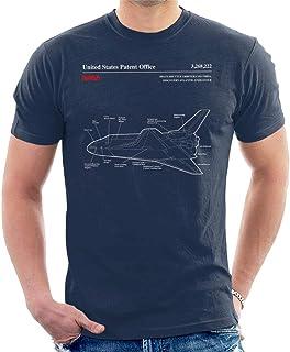 NASA Space Shuttle Orbiter Blueprint Men's T-Shirt