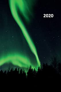 2020: Aurora Borealis Compact Planner Calendar Organizer Daily Weekly Monthly Student Northern Lights Iceland