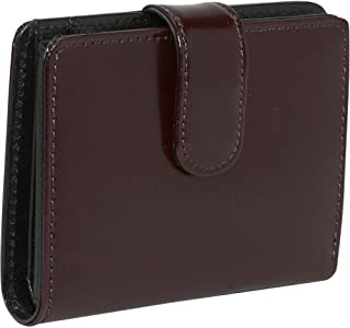 Jack Georges Milano Collection Leather Tri-Fold/French Purse in Cherry