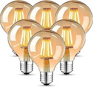 Edison Vintage Glühbirne, Edison LED Lampe Warmweiß E27 4W 2700K Retro Glühbirne Vintage Antike Glühbirne 470 Lumen Ideal ...