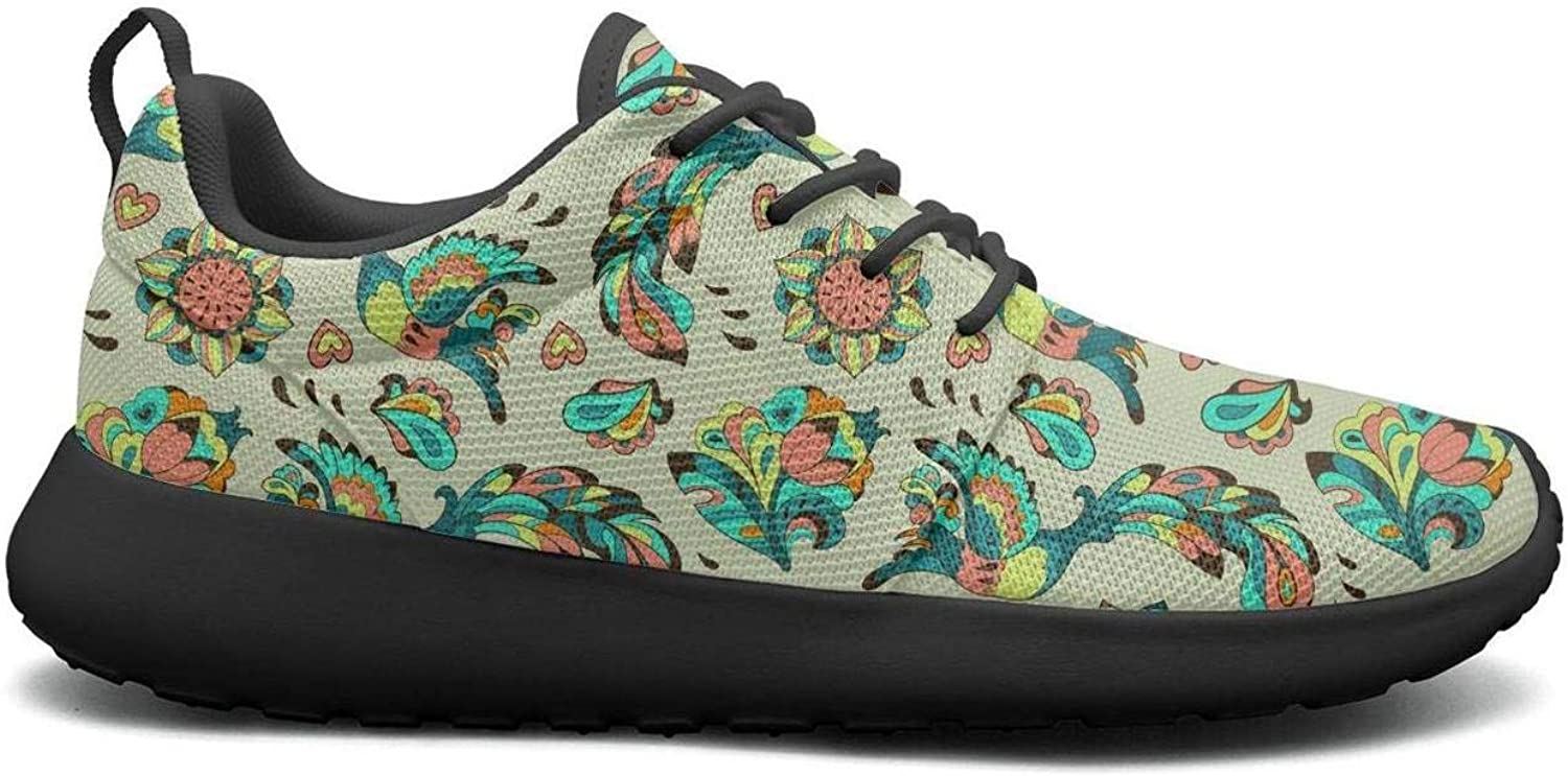 CHALi99 Fashion Lady Lightweight Mesh shoes Decorative Beauty Sunflowers Sneakers Travel Shock Absorbing