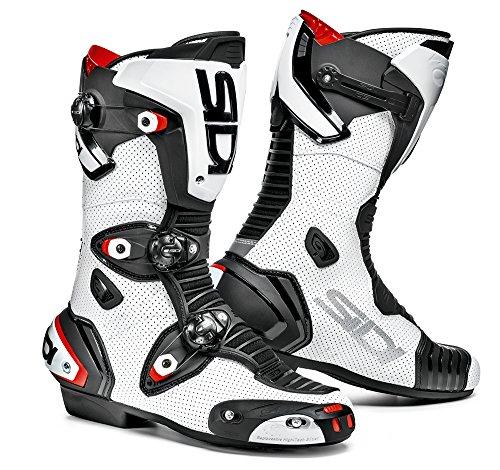 Sidi Motorrad Stiefel, Weiß/Schwarz, 43