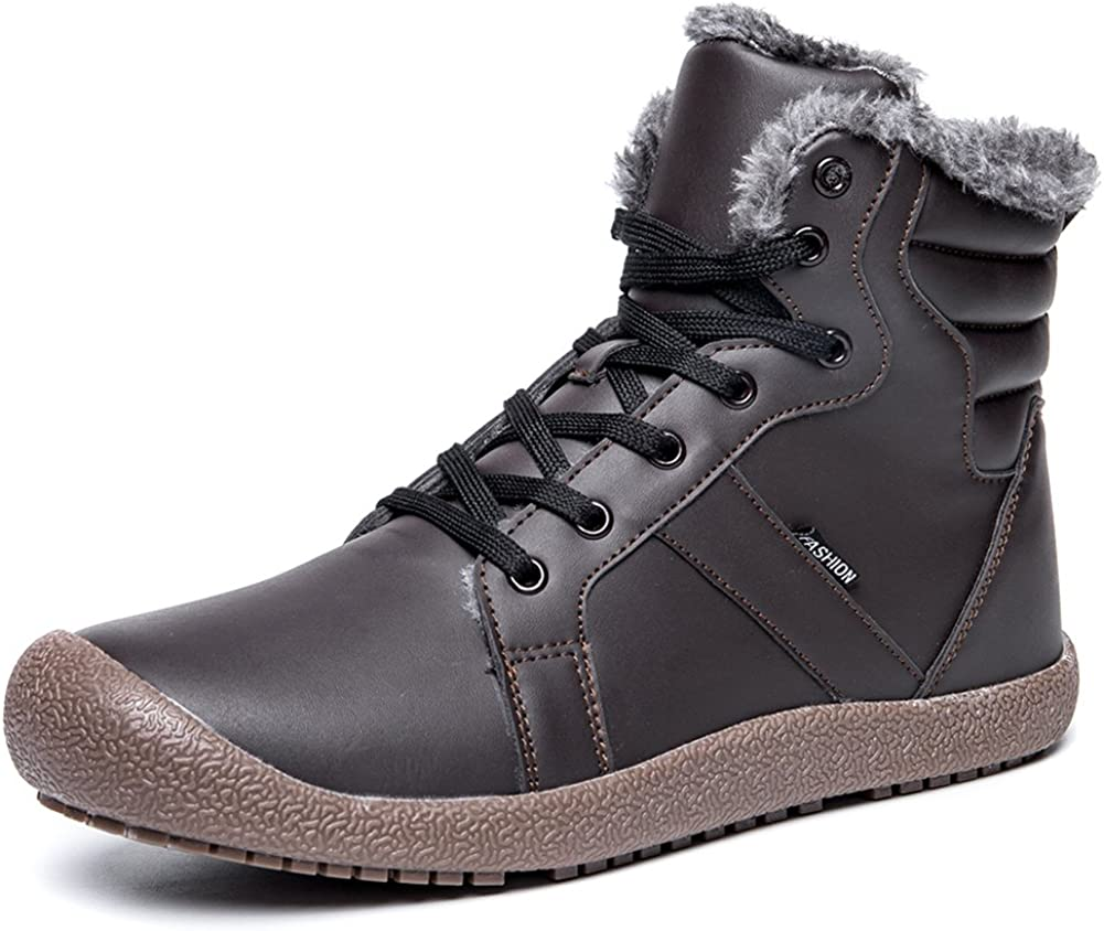 EXEBLUE Winter Snow Boots Mens Fashionable In stock Outdoor Water-Resistant Women's