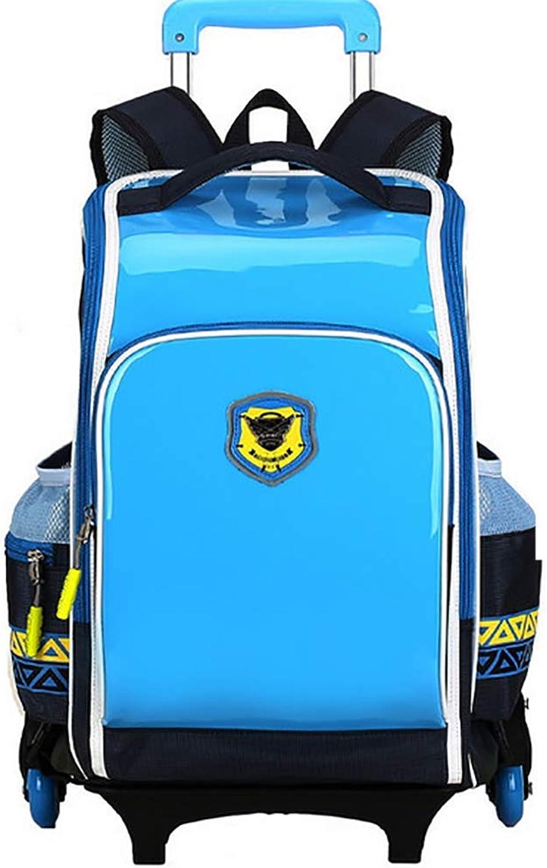 MQQ&& Trolley Rucksack& Wasserdicht Entfernbar Die Treppen Steigen Multifunktion Trolley Schultasche Für Kinder Empfohlenes Alter  7-12 Jahre Alt