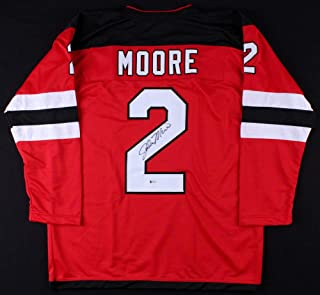 John Moore Autographed Signed Devils Jersey (beckett COA) 21st Overall Pick 2009 NHL Draft