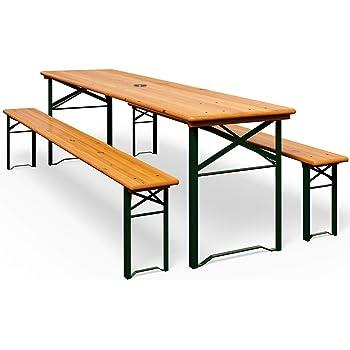 Stagecaptain Hirschgarten Set 2 panche e tavolo da birreria