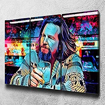 DOLUDO 3 Pieces Movie Canvas Painting Prints The Big Lebowski Poster Pictures Framed Wall Art for Living Room Home Decorations