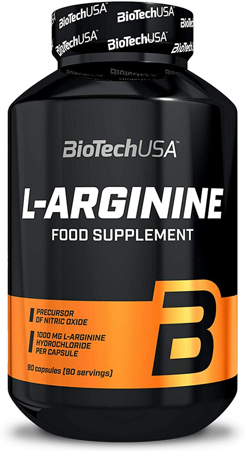 BIOTECH USA L-ARGININE 90 Excellent Translated Capsules Muscl Per Serving 1 650mg