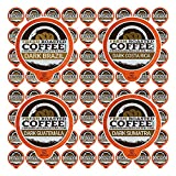 Fresh Roasted Coffee LLC, Dark Roast Coffee Pod Variety Pack, Single Origin, Dark Roast, 72 Count
