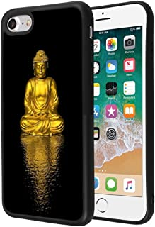 Gold Buddha iPhone 7 Plus 8 Plus Case Customized Design Anti-Scratch Flexible Shock Absorption Soft TPU Protective Phone Case For iPhone 7 Plus 8 Plus-Black