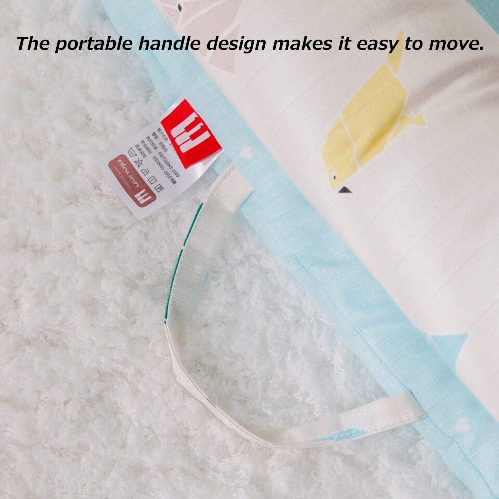 Bedside guardrail Lit BéBé Portable, Anti-Peur L'UtéRus Bionique en Coton Devrait êTre Un Lit Bionique Un Coussin De Jeu pour BéBé, Adapté Aux BéBéS De 0 à 1 an 9