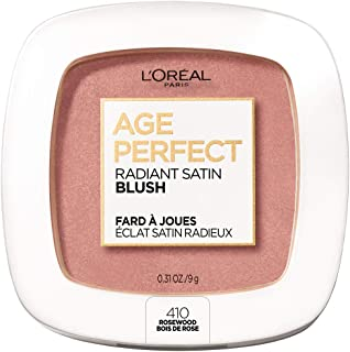L'Oreal Paris Age Perfect Radiant Satin Blush Formulated with Camellia Oil - Silky Smooth Powder Enhances Look of Cheeks - Available in 6 Luminous Shades, Rosewood, 0.31 oz.
