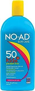 NO-AD Kids Gentle Sunscreen Lotion, SPF 50 16 oz