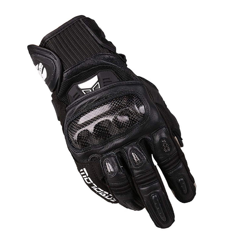 矛盾する請うベアリングBlian1 オートバイクライミングハイキングサイクリングアウトドアスポーツ用タッチスクリーンオートバイグローブ (色 : 黒, サイズ : L)