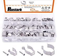 Rustark 48 Pcs U Clip Holder Set with T5 T8 T10 Stainless Steel Lampholder Mounting Support Lamp Bracket for LED Light Flu...