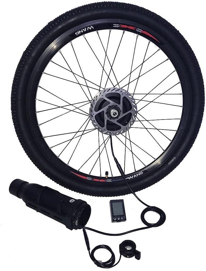 VGEBY Kit di conversione Ruota Anteriore//Posteriore e-Bike 36V//48V 350W con Motore Ciclismo LED Dispaly
