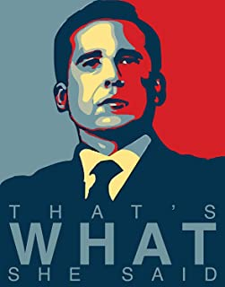 Michael Scott Quote Poster - That's What She Said Poster - Unframed 11x14 Inches Canvas Art Print