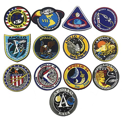 OYSTERBOY 13 piezas NASA Apollo Mission Space Moon Landing Program Patch Collection