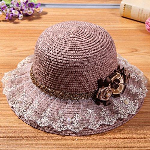 MMWYC Cappello da Sole da Donna, Cappello Estivo da Esterno Protezione Solare Protezione Solare (Color : Pink)