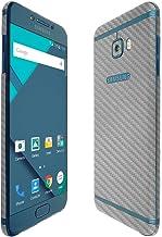 Skinomi Silver Carbon Fiber Full Body Skin Compatible with Samsung Galaxy C5 Pro (Full Coverage) TechSkin with Anti-Bubble...