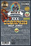 Scorpion XXX Beef Jerky (Trinidad Moruga Scorpion) GLUTEN FREE, All Natural, Hottest in the World