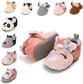 Infant Baby Cartoon Slipper Newborn Warm Cotton Anti-Slip Soft Sole Booties First Walkers Crib Shoes