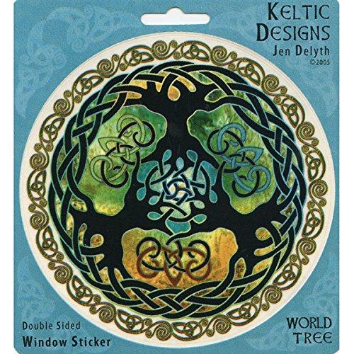 Peacemonger Keltic Designs Jen Delyth Celtic Branches Art Decal Window Sticker